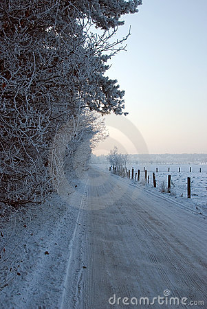 Free Countryside Road In Winter Stock Photo - 7713120