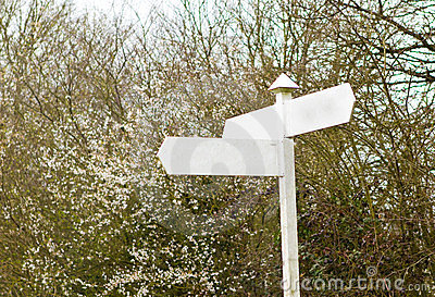 Countryside signpost Blank