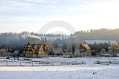 Countryside in wintertime.
