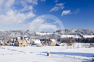 Countryside in wintertime