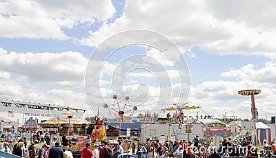 County fair rides Editorial Photography