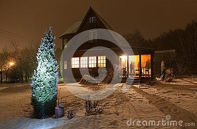 County house (dacha). Moscow region. Russia