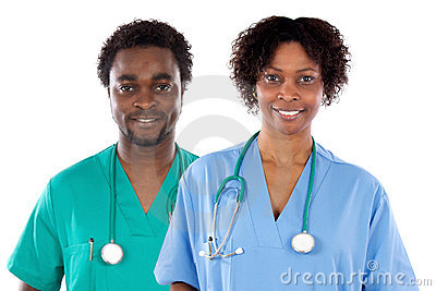 Couple of African American doctors