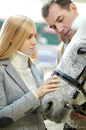 Free Couple And A Horse Stock Photo - 78542740