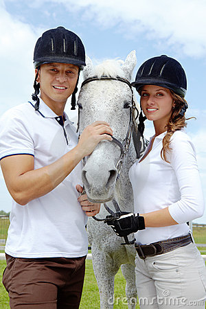 Free Couple And Horse Stock Photography - 15407552