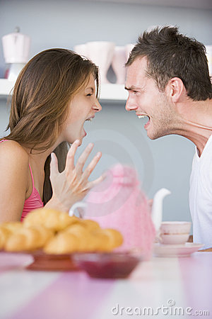 Free Couple Arguing At Table Stock Photos - 4779653