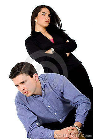 Couple in an argument