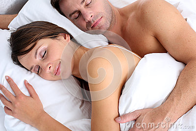 Couple asleep