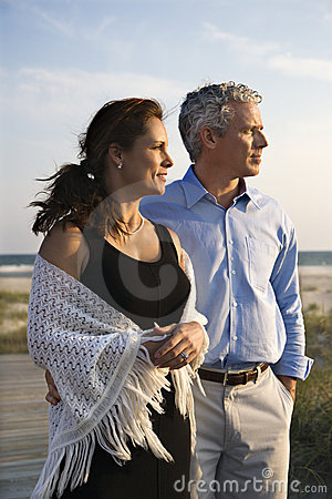 Free Couple At Beach. Stock Images - 2038314