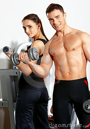Free Couple At The Gym Stock Photos - 19183213