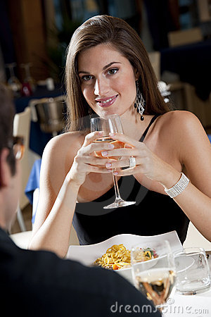 Free Couple At The Restaurant Stock Images - 17312704