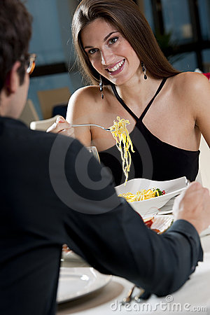 Free Couple At The Restaurant Stock Images - 17313094
