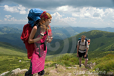 Couple of backpackers