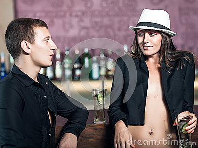 Couple in the bar