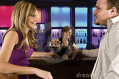 Couple at the bar