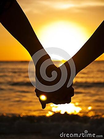 Couple at at the beach