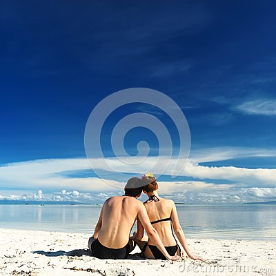 Couple on a beach