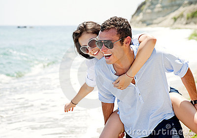 Couple beach love