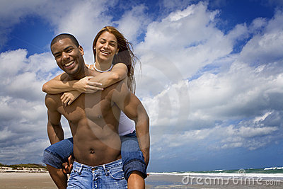 Couple on beach vacation