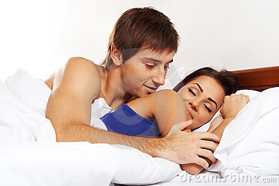 Couple in a bed