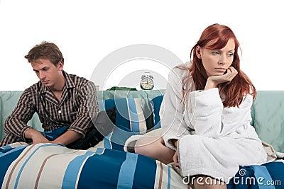 Couple, bedroom depression