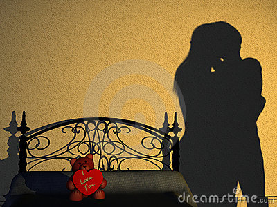 Couple Bedroom Silhouette