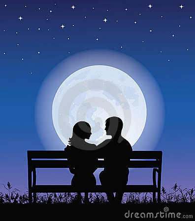 Couple On A Bench. Royalty Free Stock Photos - Image: 9003498