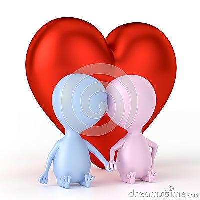 Couple And Big Heart