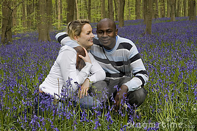 Couple in bluebells