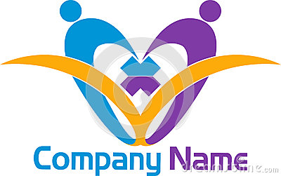 Couple book logo