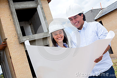 Couple building their house