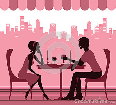 Couple in the cafe