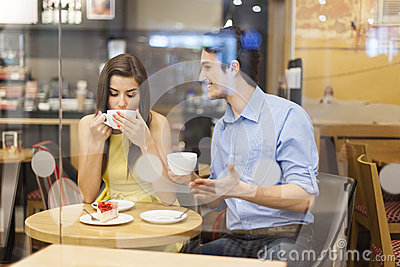 Couple at cafe