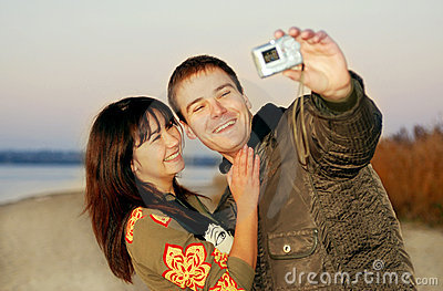 Couple and camera