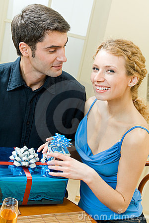 Couple celebrating