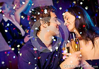 Couple at celebration