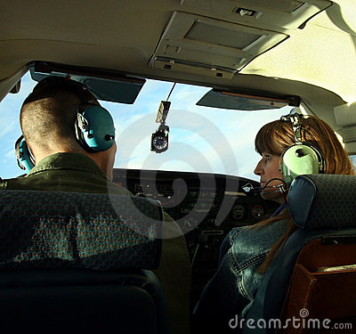 A Couple Chat as They Pilot a Small Plane