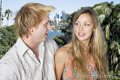 Couple chatting on the balcony 2