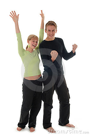 Free Couple Cheering Stock Photography - 1375262