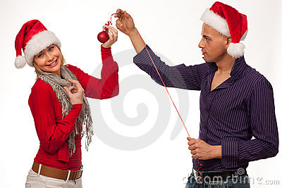 Couple in christmaas time