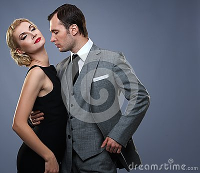 Couple in classic garment together