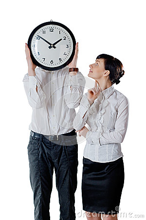Couple and clock