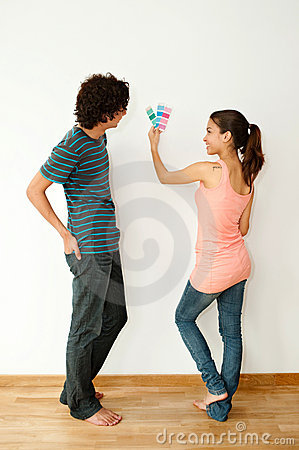 Couple with Colour Swatch