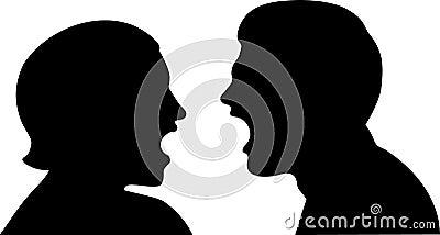 Couple communicating