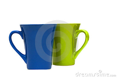 Couple of cups isolated on white background