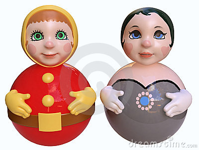 Royalty Free Stock Photos: Couple of cute dolls