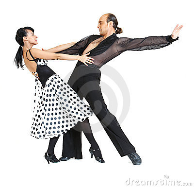 Couple dancers latina style