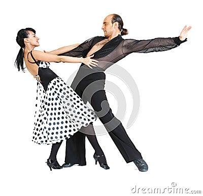 Couple dancers latina style