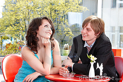 Couple On Date In Restaurant. Stock Image - Image: 14736721