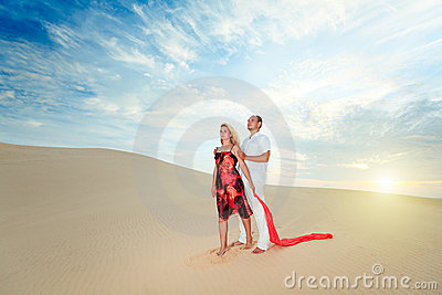 Couple in desert